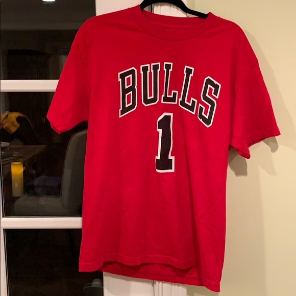 best website b2f58 6f032 Derrick Rose bulls jersey t-shirt
